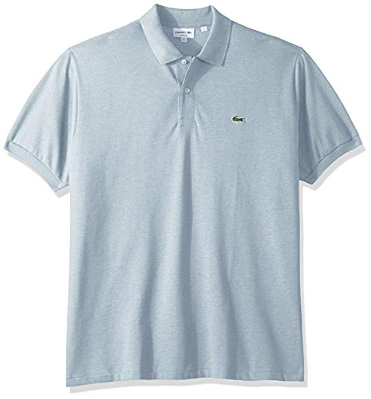 e378b0600 Lacoste - Blue Short Sleeve Pique Classic Fit Chine Polo Shirt, L1264 for  Men -. View fullscreen