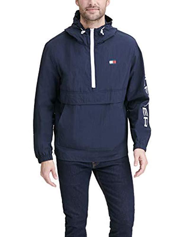8b30a3ece82 Lyst - Tommy Hilfiger Retro Lightweight Taslan Popover Jacket in ...