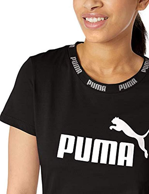 7bfce1c5356 PUMA Amplified Tee in Black - Save 23% - Lyst