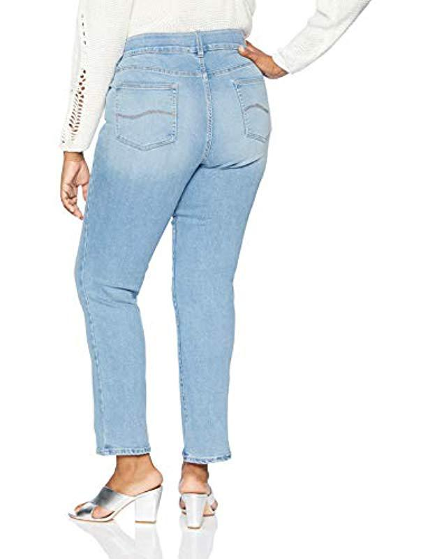 f74290454276e Lyst - Lee Jeans Plus Size Flex Motion Regular Fit Straight Leg Jean in Blue