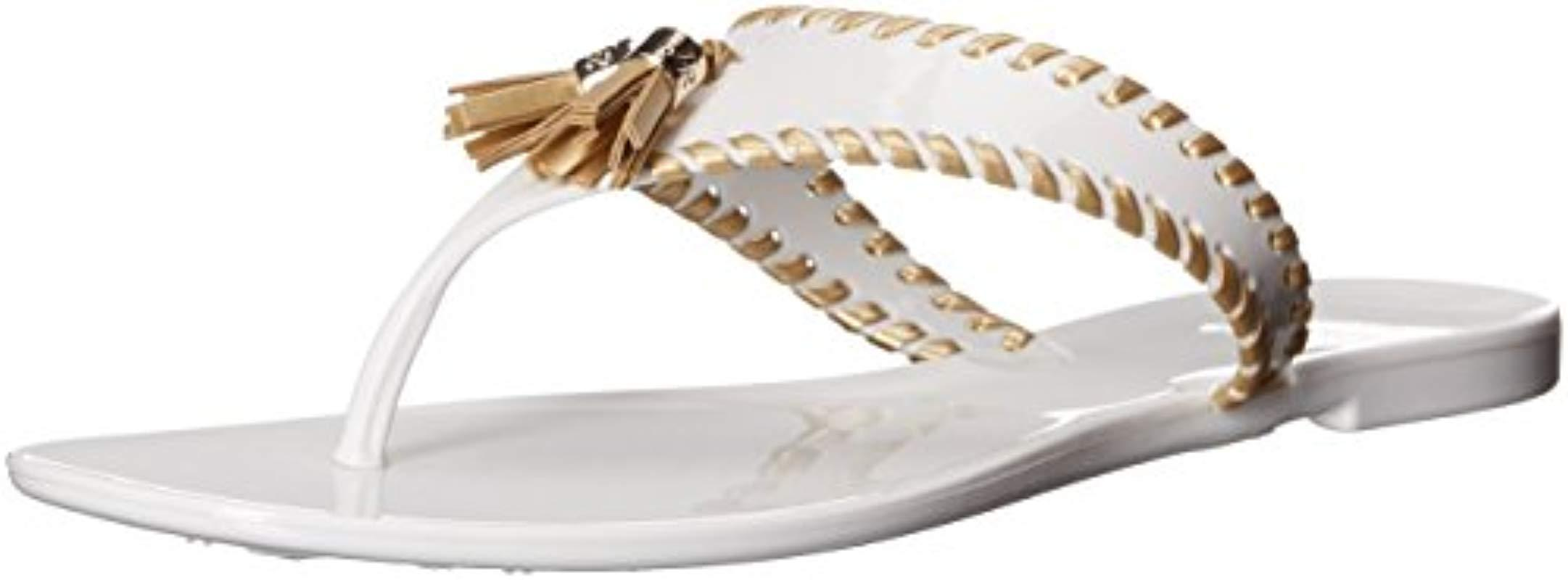 17c6220b8114 Lyst - Jack Rogers Alana Jelly Flip Flop in White