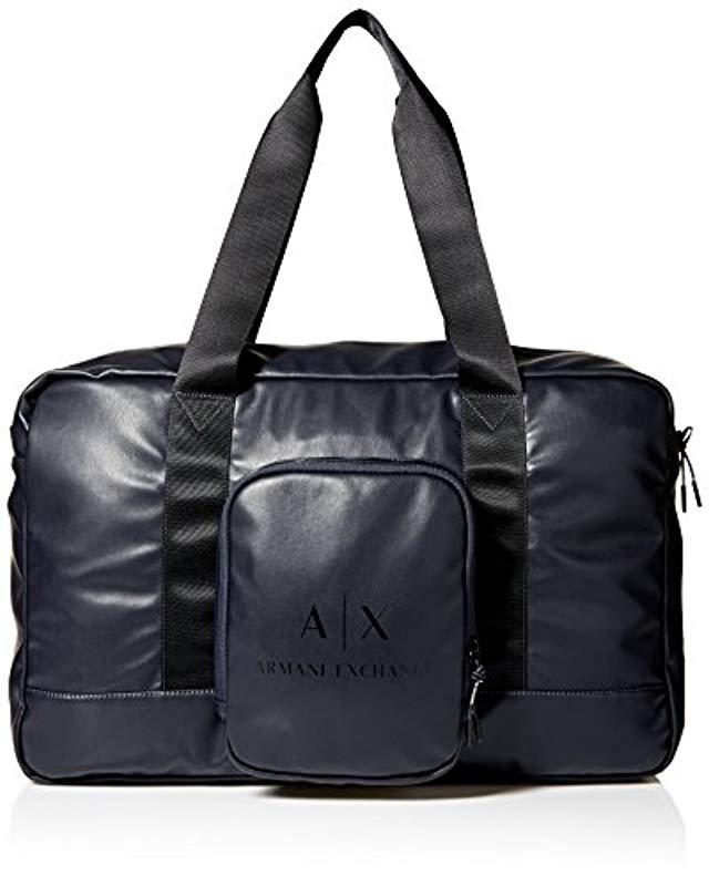 8341ac83c26 Lyst - Armani Exchange Rmni Exchnge Logo Duffle Bg in Black for Men