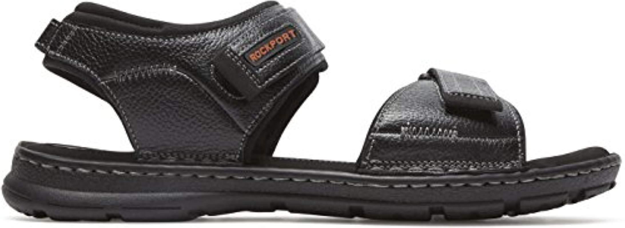 398312421 Lyst - Rockport Darwyn Quarter Strap Sandal in Black for Men - Save ...