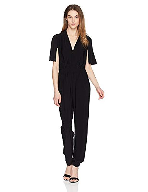 64ae7e861c6 Lyst - Laundry by Shelli Segal Matte Jersey Jumpsuit-old in Black