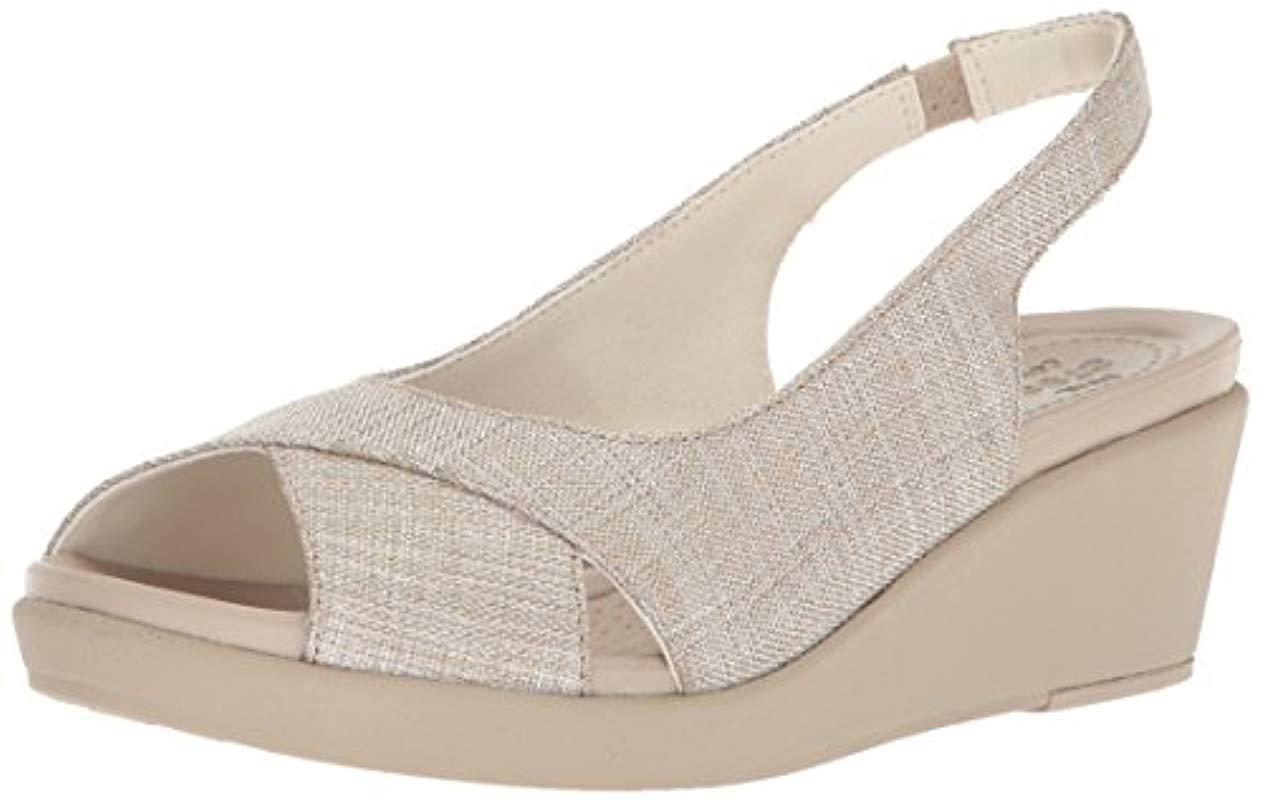 11d3f4874a8a Lyst - Crocs™ Leigh-ann Shimmer Slingback Wedge - Save 59%
