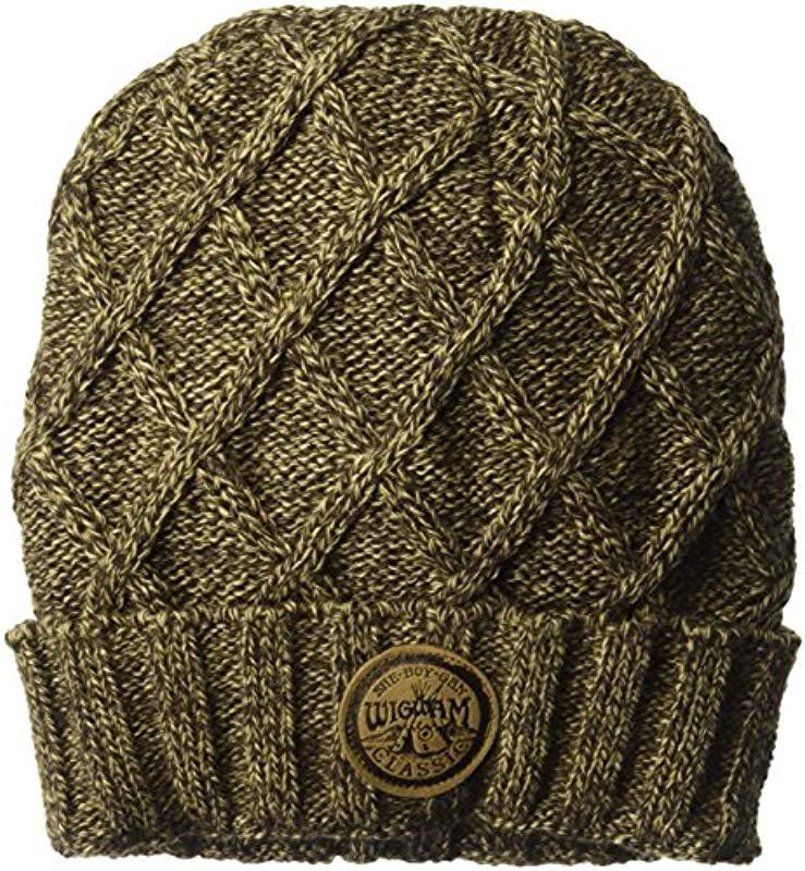 Lyst - Wigwam Seine Cable Knit Fleece Lined Beanie Hat in Brown for ... 53c040c8d76