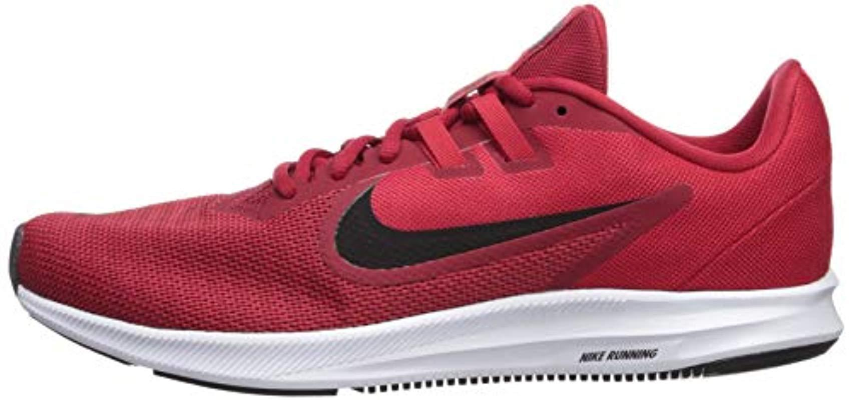 06d6906517eeaa Lyst - Nike Downshifter 9 Sneaker Gym Black-university Red-white