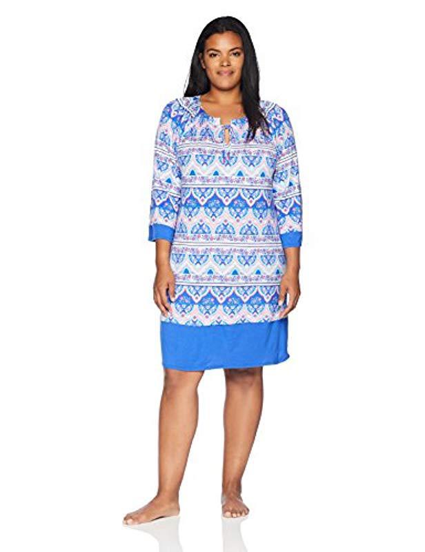 Lyst - Ellen Tracy Plus Size Batik Paisley Tunic in Blue - Save 16%