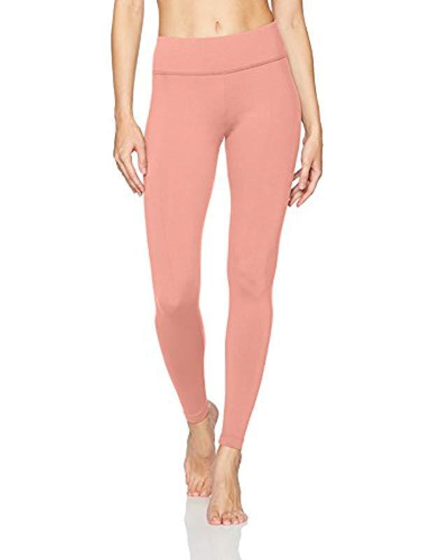 7b391160c0996 Lyst - Danskin Signature Wide Waist Yoga Ankle Legging in Pink