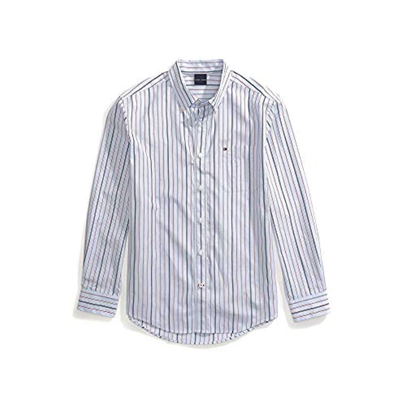 c3710d34 Lyst - Tommy Hilfiger Adaptive Magnetic Button Shirt Custom Fit in ...