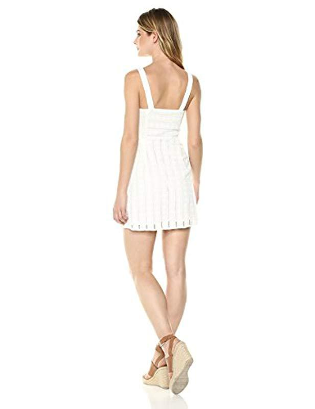 44da32014700 Lyst - For Love   Lemons Hermosa Eyelet Snap Dress in White