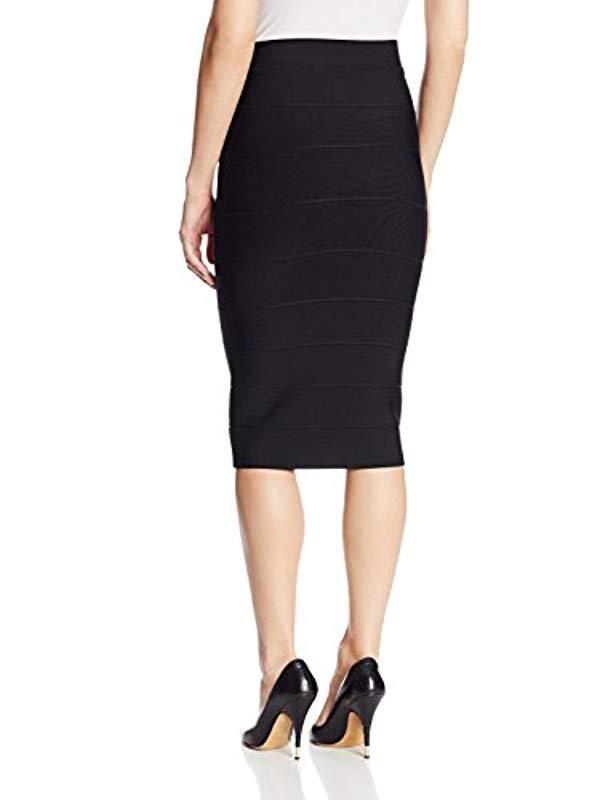 cafe6b5a3 BCBGMAXAZRIA Leger Mid-length Knit Pencil Skirt in Black - Lyst