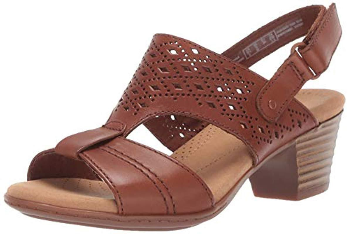 47d0283e5f3d Clarks. Women s Brown Valarie Mindi Heeled Sandal.  90 From Amazon Prime