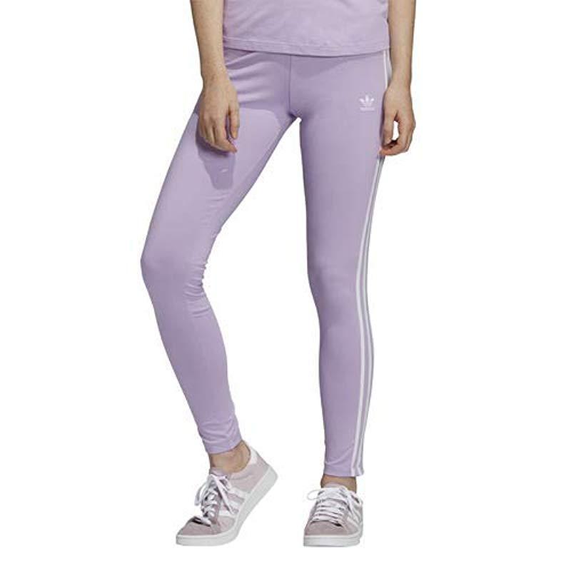 08543d4c323 Lyst - adidas Originals 3-stripes Leggings in Purple
