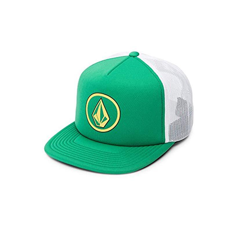 572f43e8c0aa9 Lyst - Volcom Full Frontal Cheese 5 Panel Trucker Hat in Green for ...