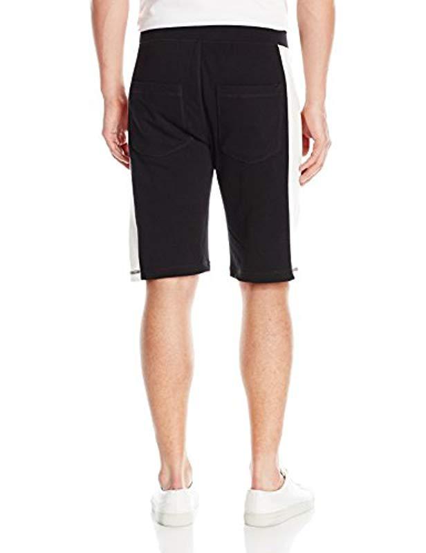27448f839d4a Lyst - Calvin Klein Jeans Color Block Vertical Logo Shorts in Black for Men  - Save 14.583333333333329%
