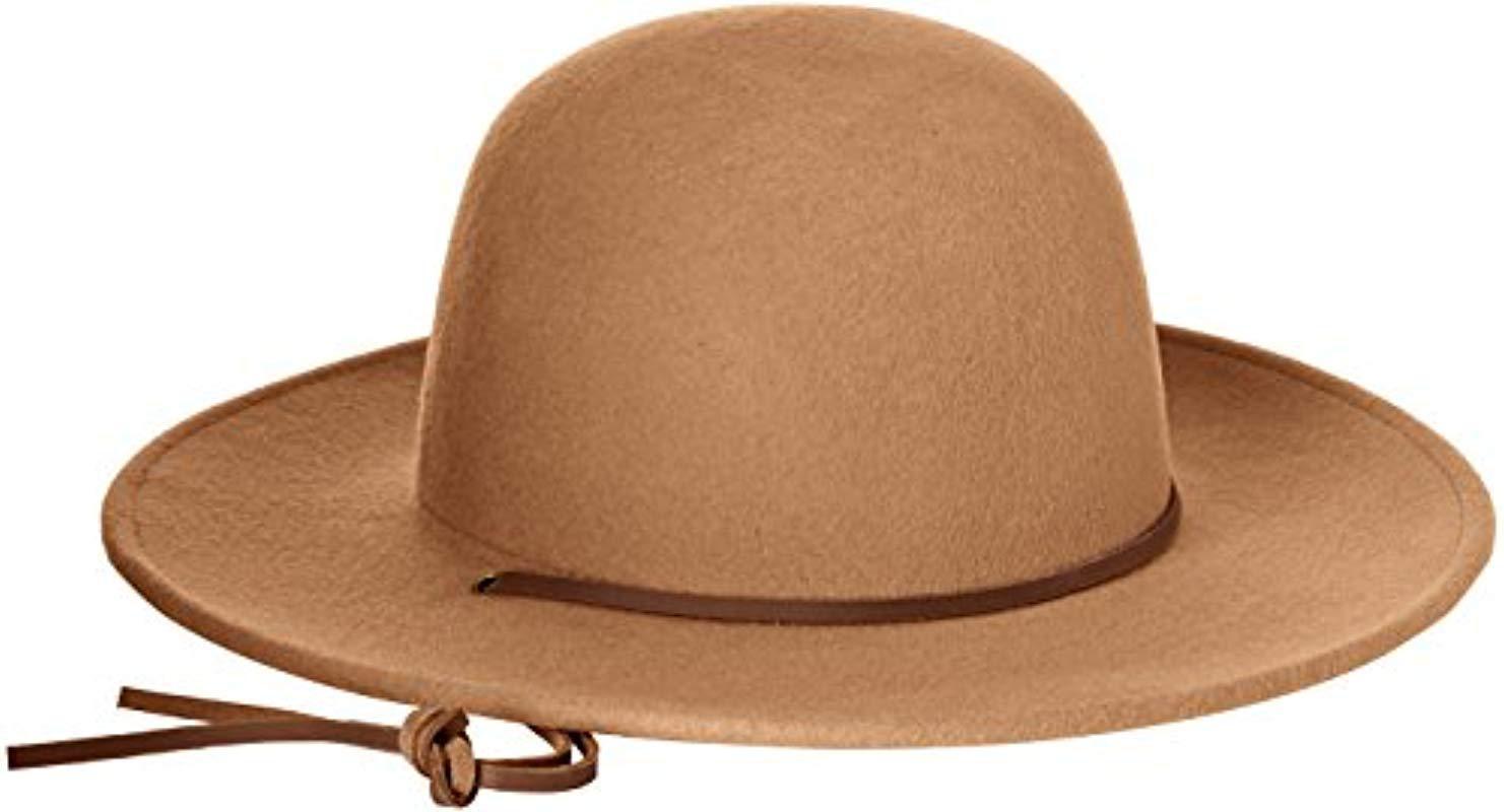 0682027e2b Brixton - Brown Tiller Wide Brim Felt Fedora Hat for Men - Lyst
