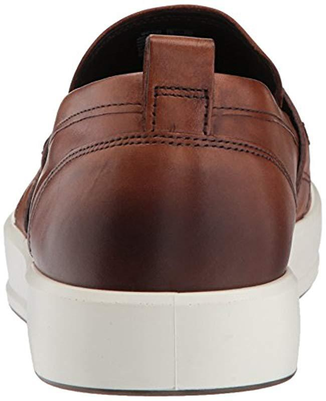 6d8e0390fe60e5 Lyst - Ecco Soft 8 Slip On Fashion Sneaker for Men