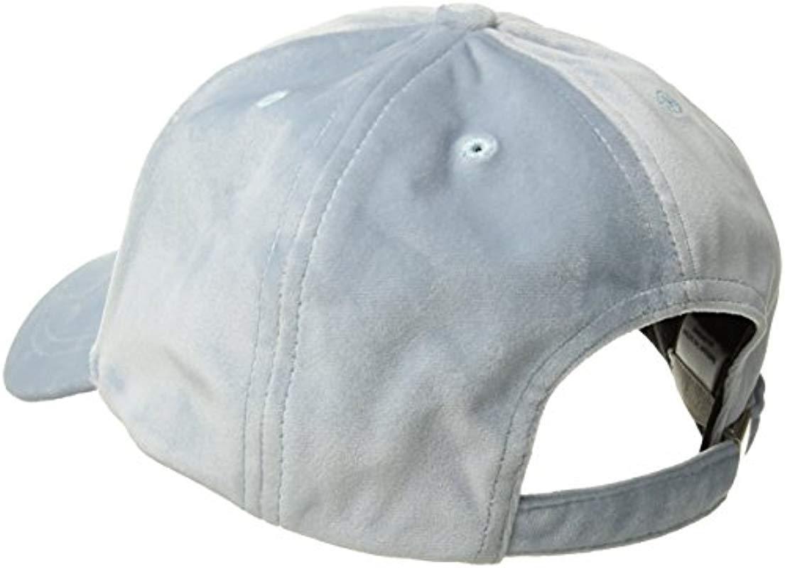 2f29768fa25 Lyst - SOIA   KYO Dolce Adjustable Velvet Baseball Cap in Blue ...