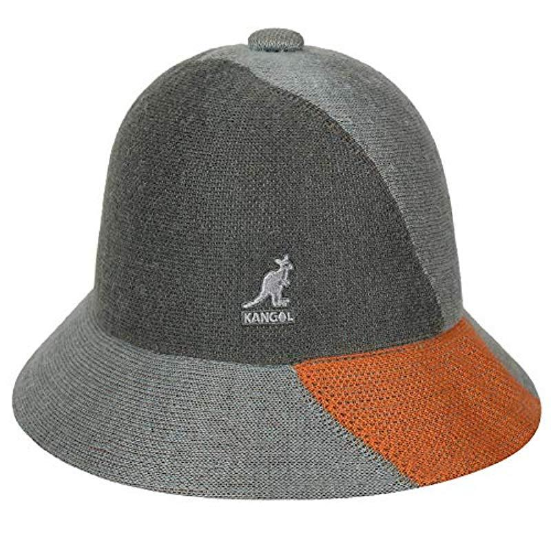 d16d55c6 Kangol The Street Collection Col-blocked Casual Bucket Hat in Gray ...
