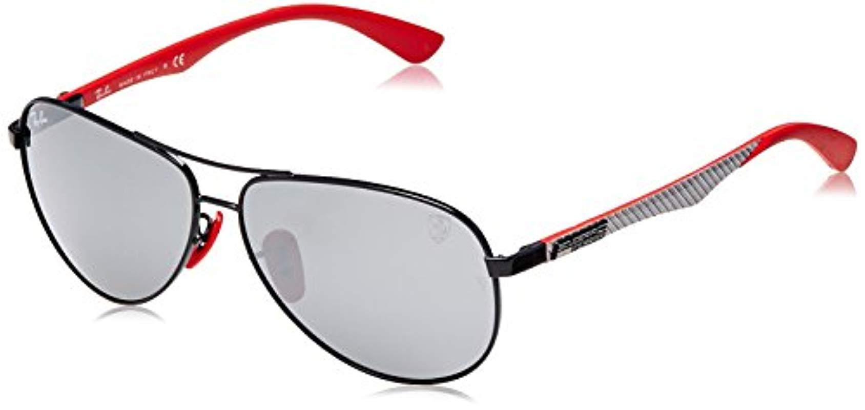 df86a21c25 Ray-Ban. Men s Black Rb8313m Scuderia Ferrari Collection Polarized  Sunglasses