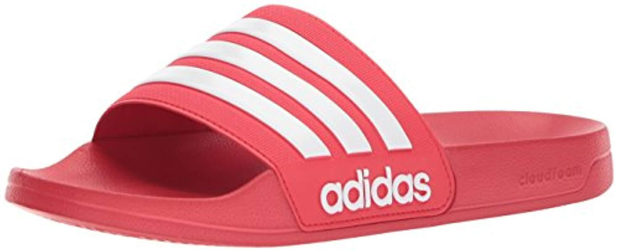 f960530a0436e0 Lyst - adidas Originals Adilette Shower Slide Sandal in Red for Men