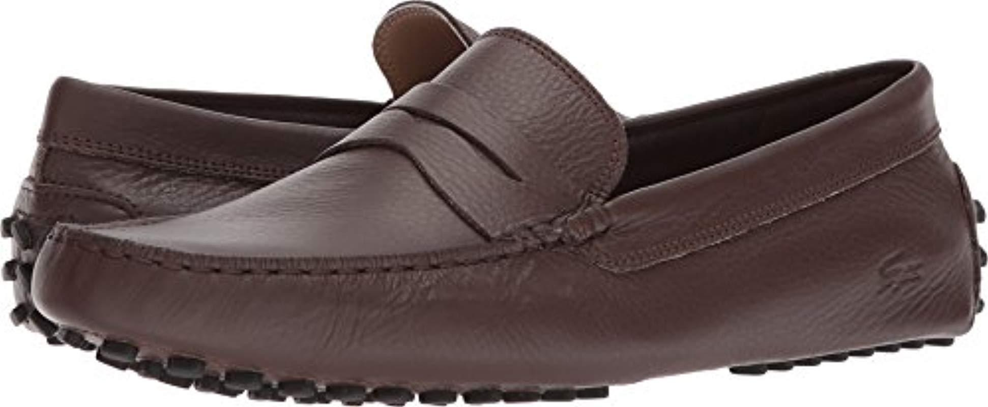 f6ffbe0d6 Lyst - Lacoste Concours 118 1 Driving Style Loafer in Brown for Men