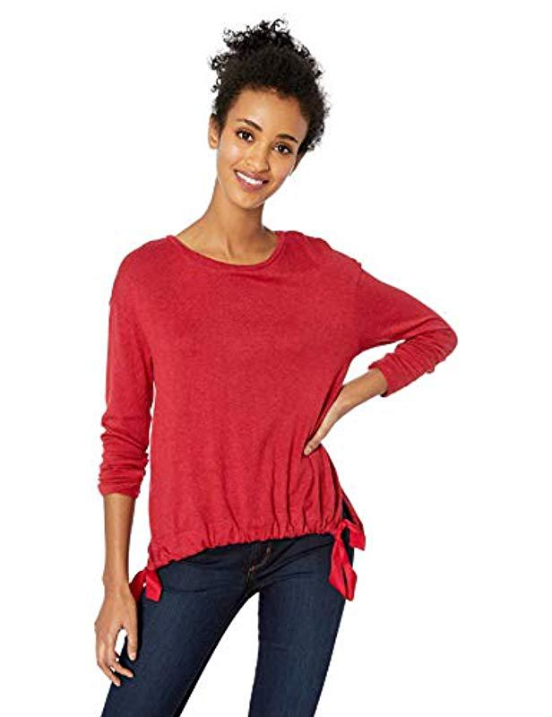 9772c91052886a Lyst - Jessica Simpson Wendi Blouson Knit Top in Red