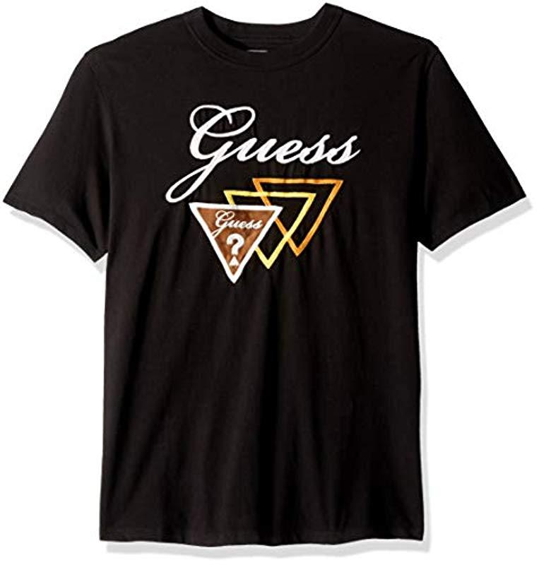 550e3014 Guess - Black Originals Oversized Script Tri-logo Tee for Men - Lyst. View  fullscreen