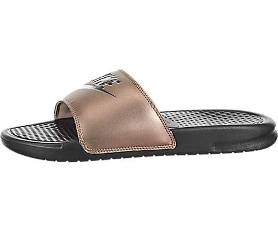 Do Sandal Benassi It In Lyst Synthetic Nike Metallic Just cTlK13FJ