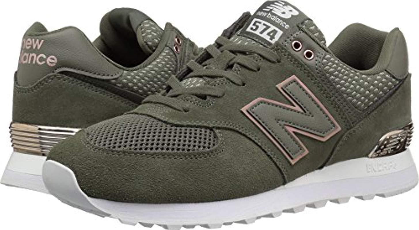 New Balance New Balance Womens 574 Core Sneaker, sea SaltRose GoldMetallic, 11 B US from Amazon | Shop