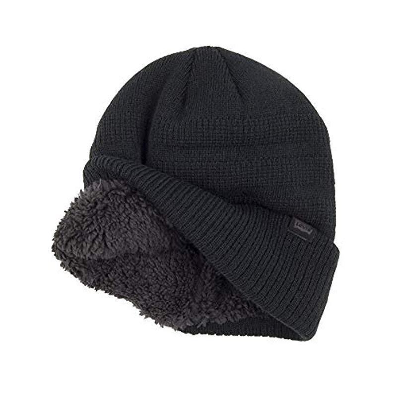 e0e1471bf6440d Levi's - Black Warm Winter Knit Skullie Beanie for Men - Lyst. View  fullscreen