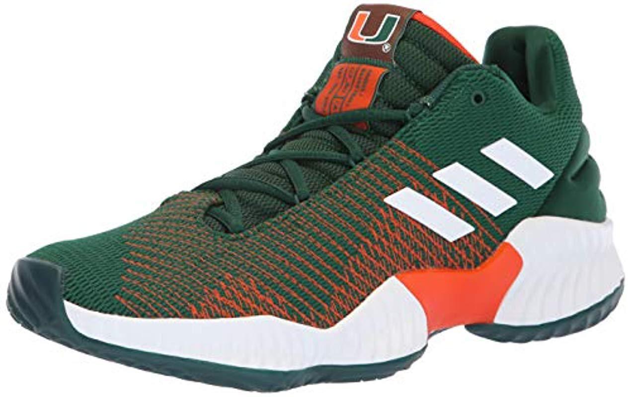 sale retailer 7e5dd 2832f adidas Originals. Mens Green Pro Bounce 2018 Low Basketball Shoe