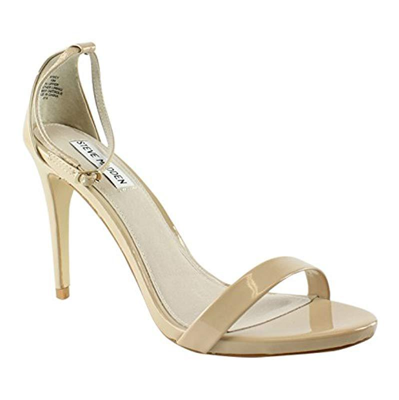 5f03fc42d0b Lyst - Steve Madden Stecy Dress Sandal in Natural - Save 12.5%