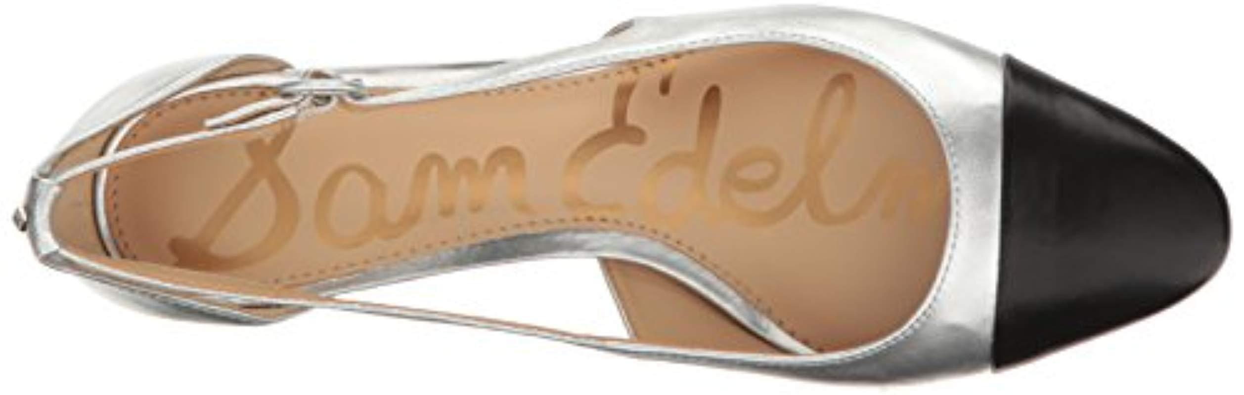 86850effe57 Sam Edelman - Metallic Leah Cutout Block Heel - Lyst. View fullscreen
