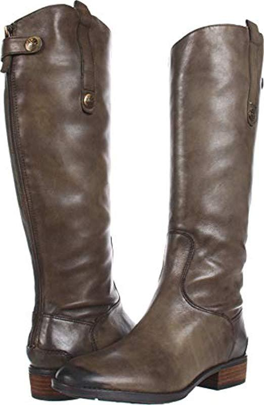 ac4987066341 Lyst - Sam Edelman Penny Leather Riding Boot in Green - Save 67%