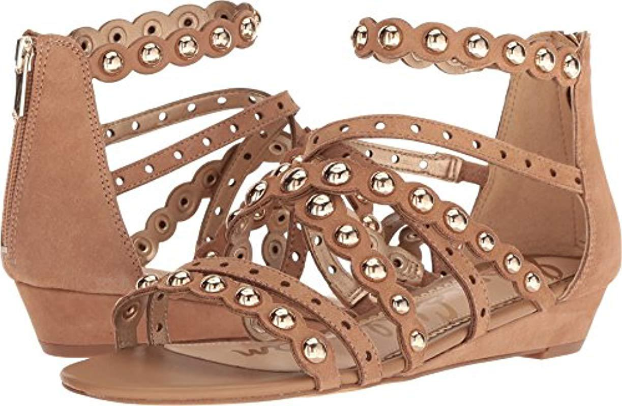 a14be78d7 Lyst - Sam Edelman Dustee Wedge Sandal in Brown - Save 2%