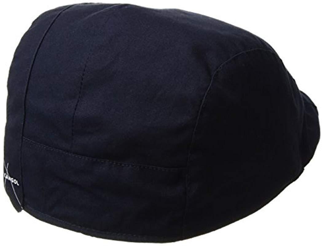30a6111e Kangol. Men's Blue Placket Adjustable Ivy Cap With Tartan Lining And Trim