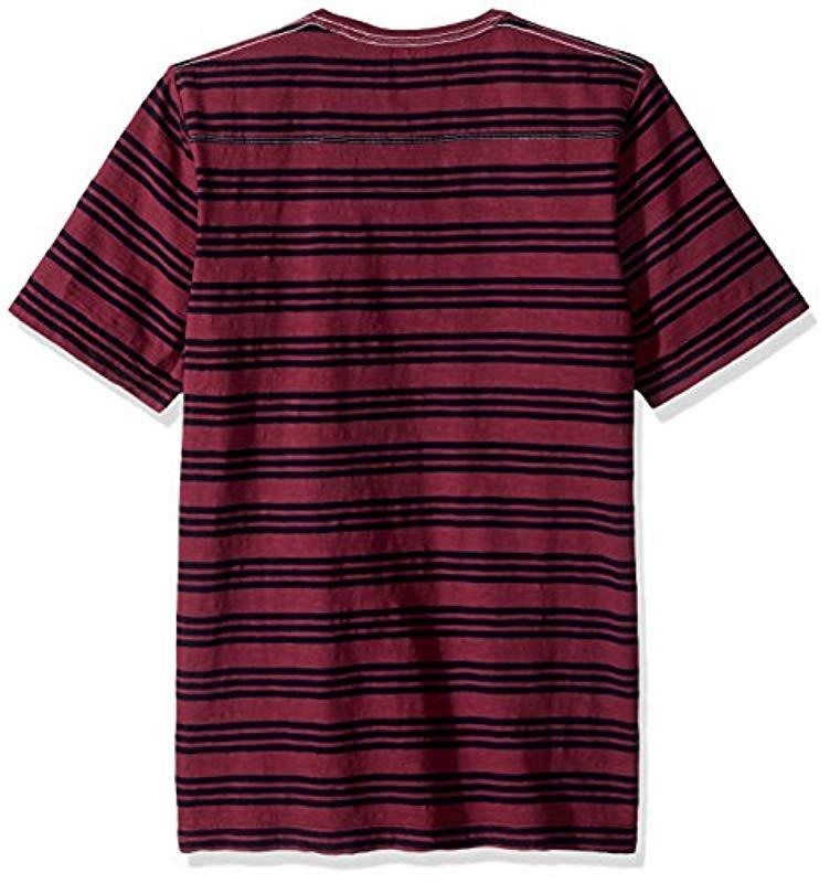 f7f7eca26d0 French Connection - Red Short Sleeve Stripe Crew Neck Cotton T-shirt for  Men -. View fullscreen