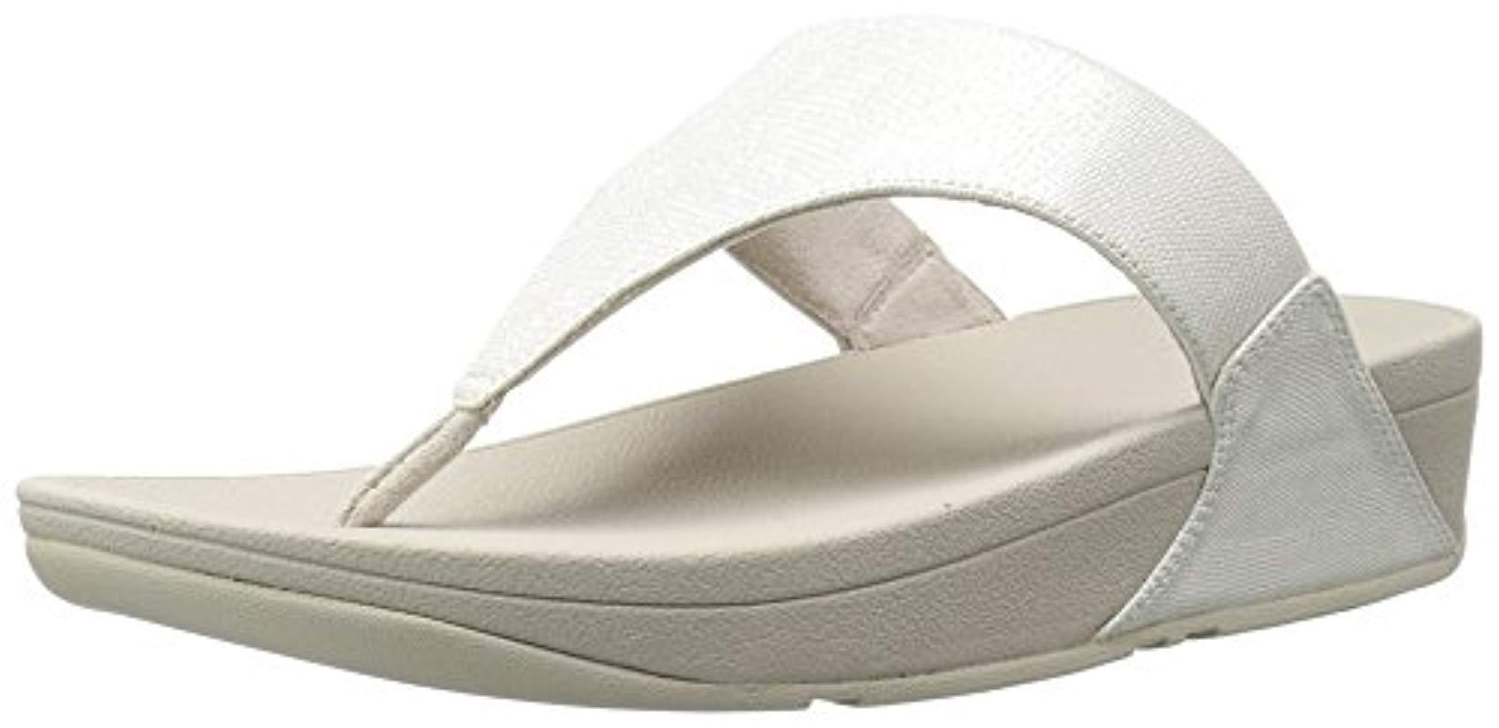 dbb8786d7 Lyst - Fitflop Lulu Lizard-print Flip Flops Sandal in Metallic