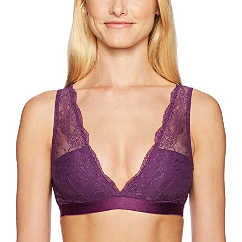 0327305909b8c Lyst - Mae Deep Plunge Bralette (for A-c Cups) in Purple - Save 50%