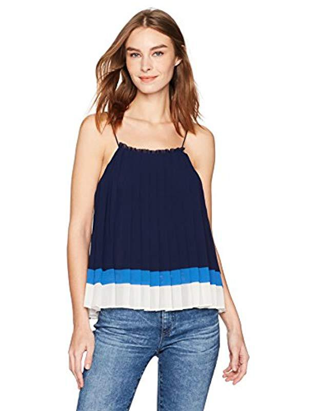 afddbcc739 Lyst - Joie Woman Amzie Pleated Color-block Crepe De Chine Camisole ...