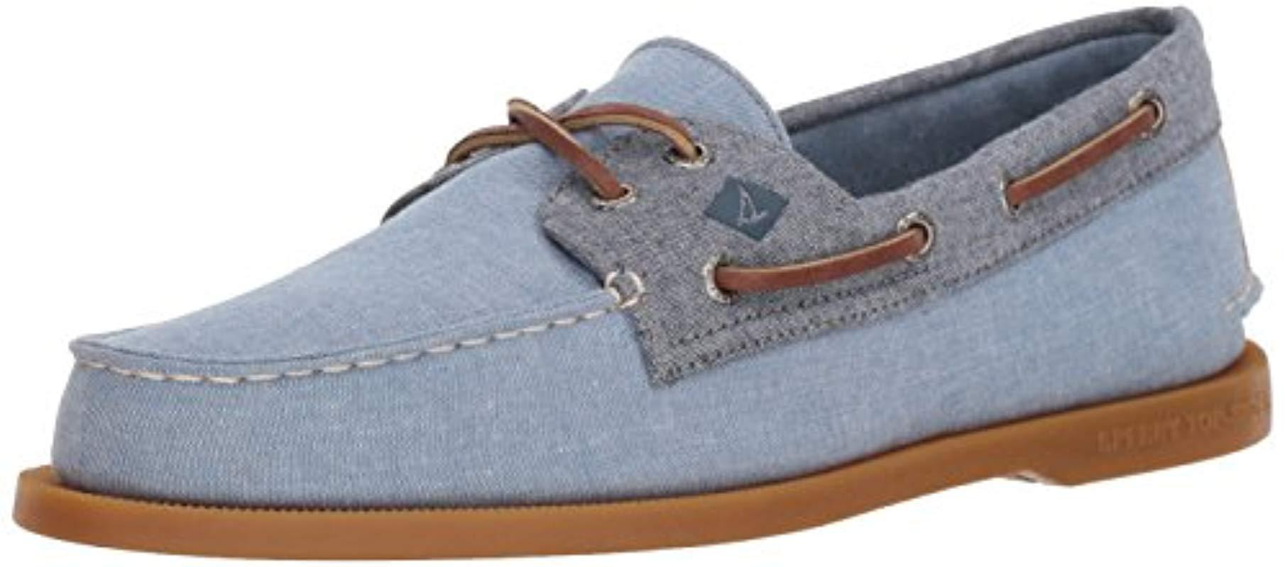 Lyst Sperry Top Sider A O 2 Eye Chambray Chino Chocolate Mens D Island Shoes Moccasine Slip On Lacoste Suede Blue View Fullscreen