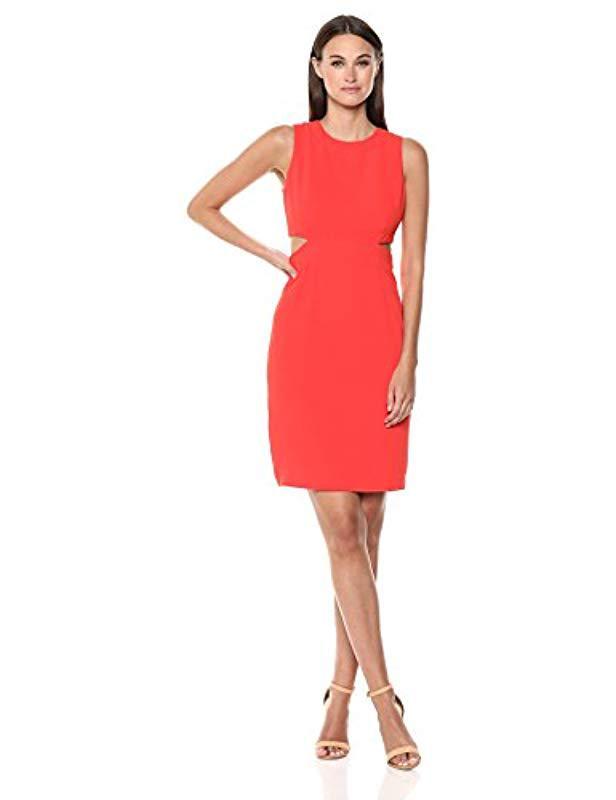 a86fd5a8bdc Trina Turk Trina Helena Cutout Midi Dress in Red - Lyst