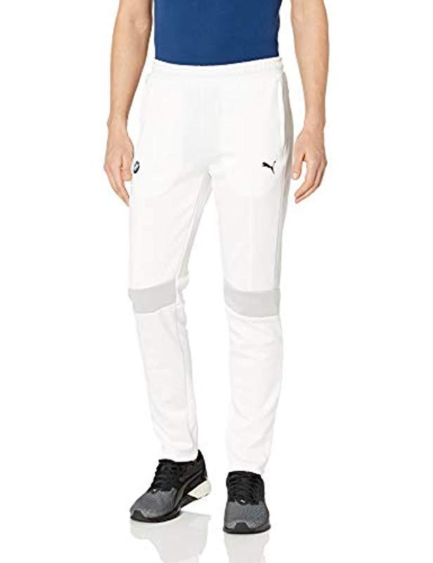 6378ed9d7cea Lyst - PUMA Bmw M Motorsport T7 Track Pants in White for Men