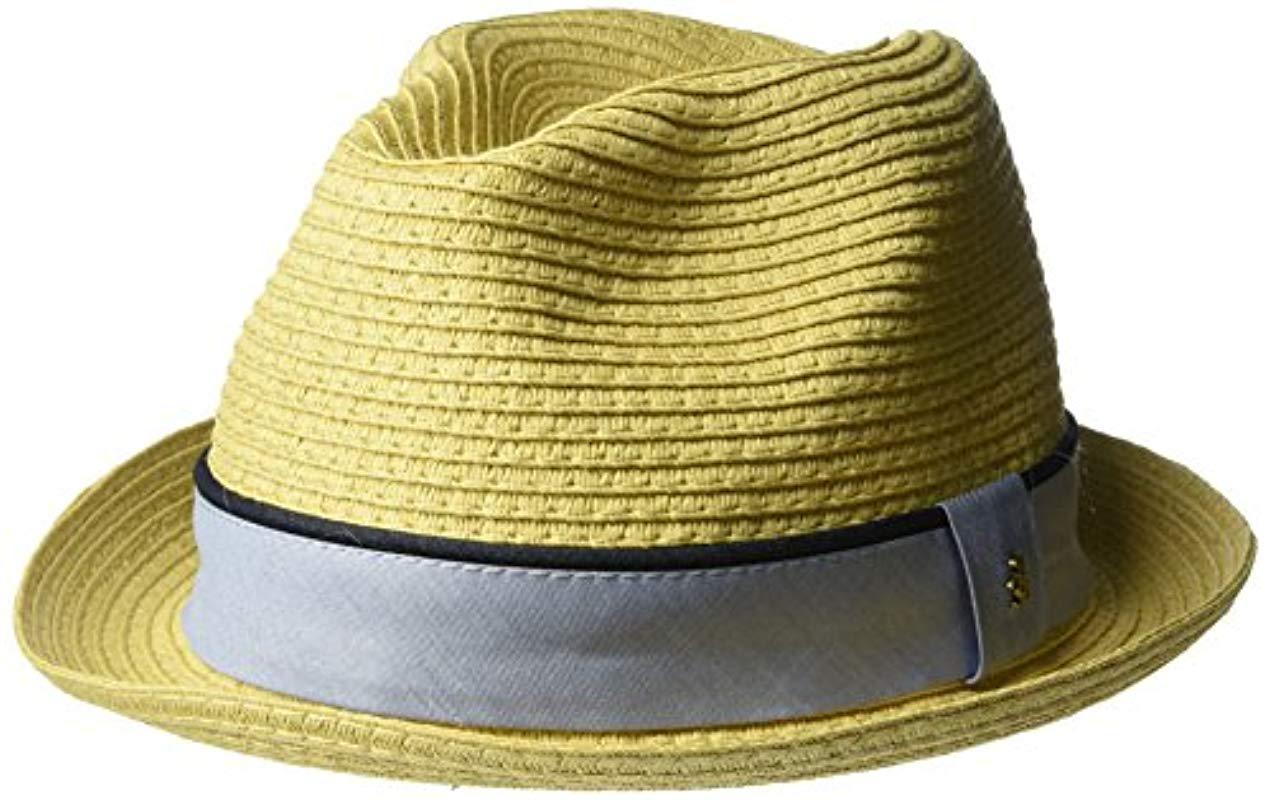 64a9153f5e3 Lyst - Original Penguin Straw Porkpie Hat in Natural for Men