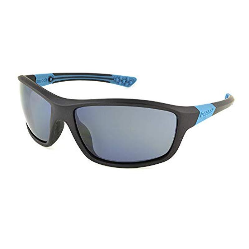 8bf4332b37 Reebok. Men s Gray Rsk 1 Gph No Polarization Wrap Prescription Eyewear ...
