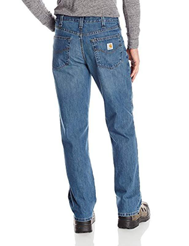 7d57ea25 Lyst - Carhartt Relaxed Fit Holter Jean in Blue for Men - Save 12%