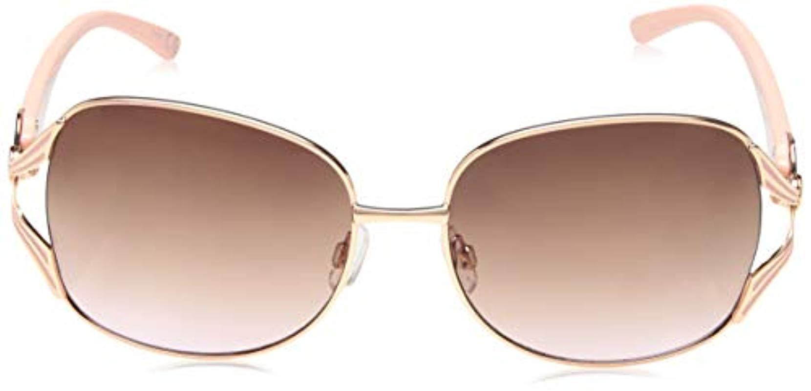 a7037e5f8a1 Lyst - Steve Madden Sm495123 Round Sunglasses Rose Gold