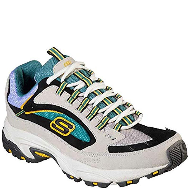 992bcea5fe26 Lyst - Skechers Sport Stamina Nuovo Cutback Lace-up Sneaker in White ...